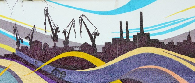 Mural of Gdansk Shipyard. Street art tour – Hit The Road Travel
