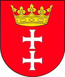 The coat of arms of Gdansk