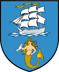The coat of arms of Ustka