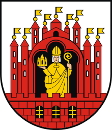 The coat of arms of Grudziadz