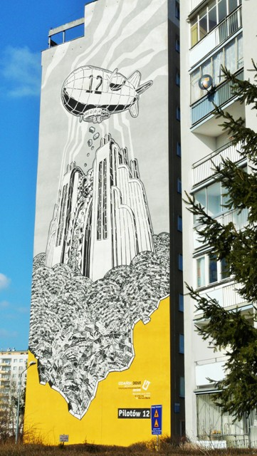 Mariusza Waras' mural in Gdansk Zaspa. Street art tour – Hit The Road Travel