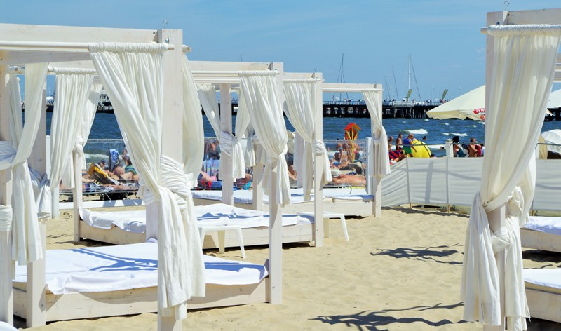 Sopot, the beach near the Grand Hotel. Poland travel packages – Hit The Road Travel