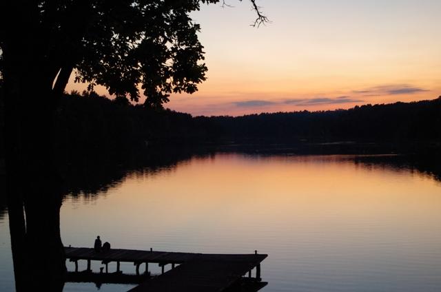 Zachód słońca nad Jeziorem Nidzkim