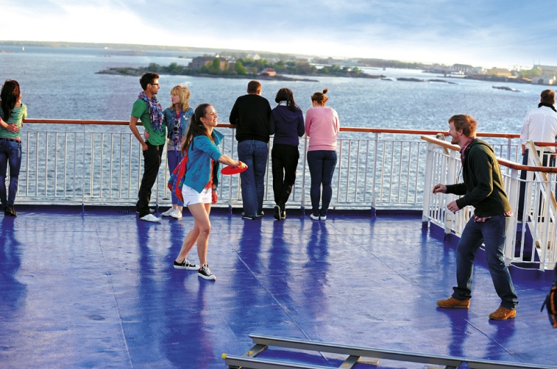 Sun deck, Stena Line ferry. Conference cruise to Poland – Hit The Road Travel