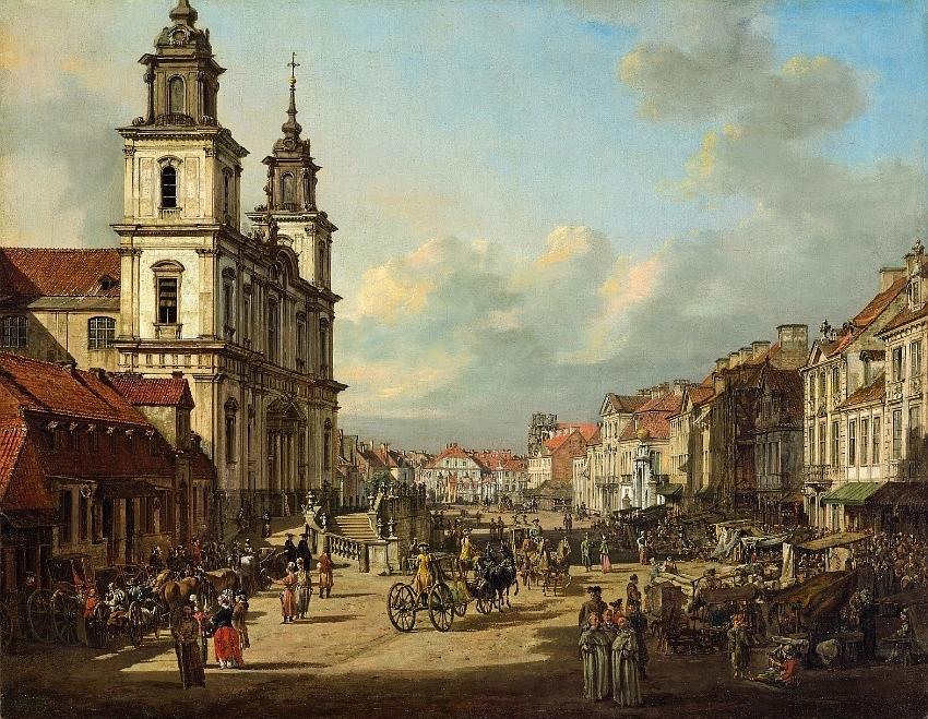 Bernardo Bellotto - Krakowskie Przedmieście Street in Warsaw