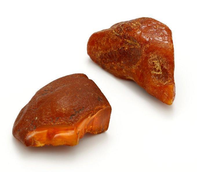 Unpolished amber